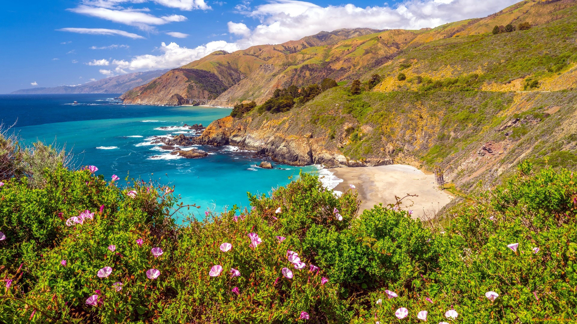 big sur, california, природа, побережье, big, sur